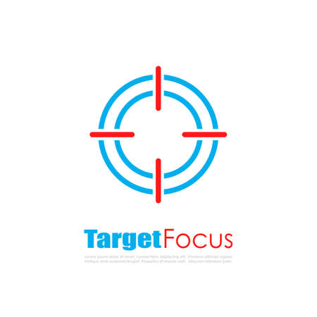 staying in shape: Target focus abstract logo Illustration