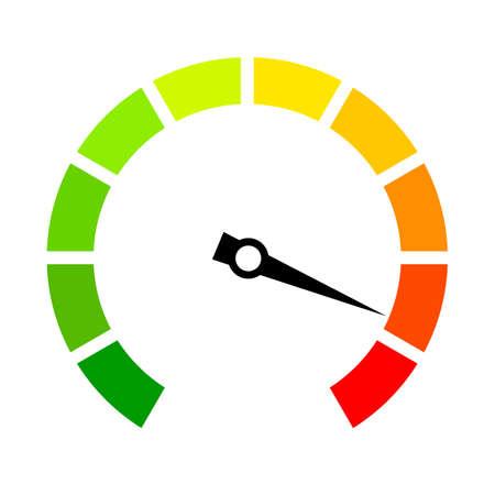 Speed metering arrow vector icon Vektorové ilustrace