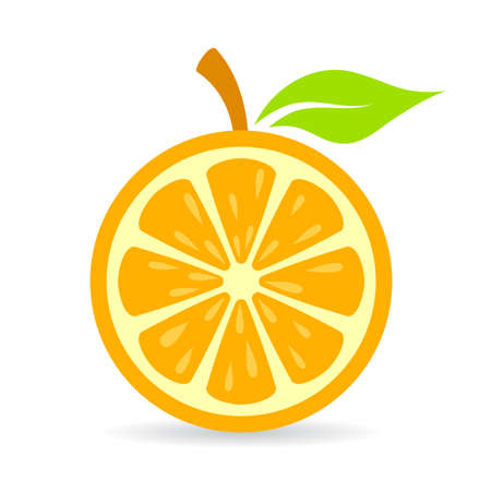 Orange slice vector icon