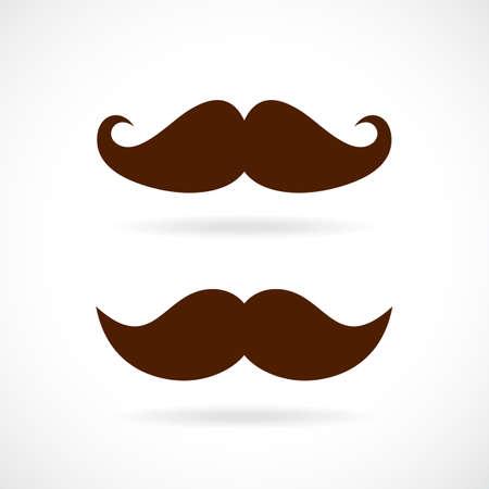 retro: Retro mustache vector icon set