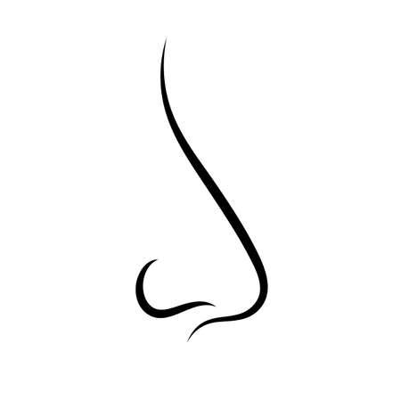 nose: Nose outline vector icon