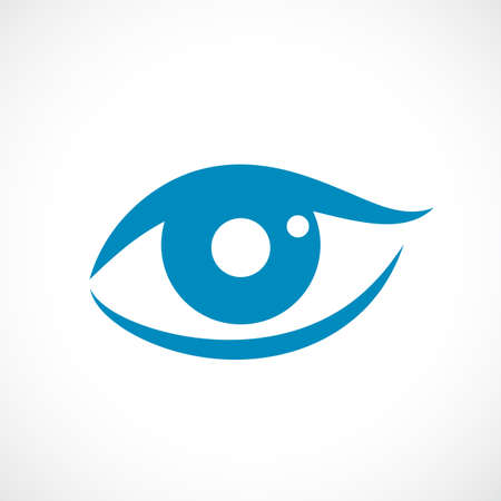 eyes wide open: Human eye vector icon Illustration