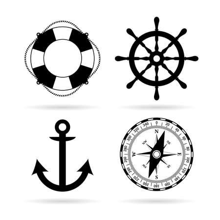 topografia: Conjunto de iconos de mar marítimo