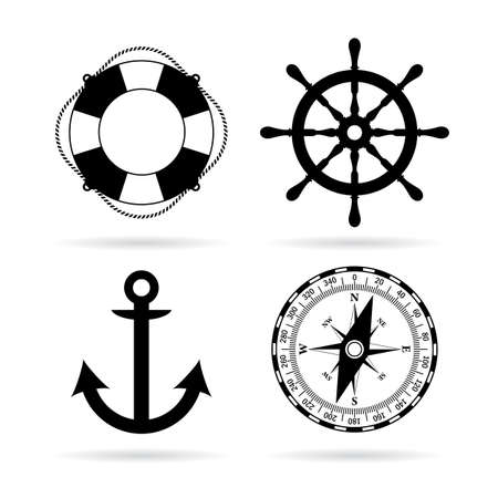 Sea maritime icon set