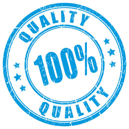 100 quality guarantee rubber stamp Vettoriali