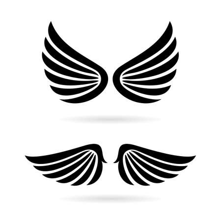 wings vector: Angel wings vector icon set Illustration