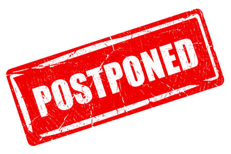 canceled: Postponed rectangular rubber stamp