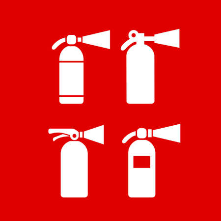 marks: Fire safety extinguisher vector icon