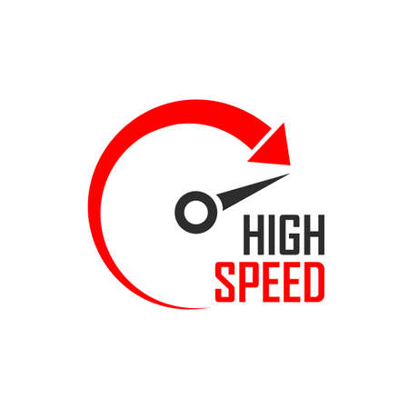 Speed minimalistic logo