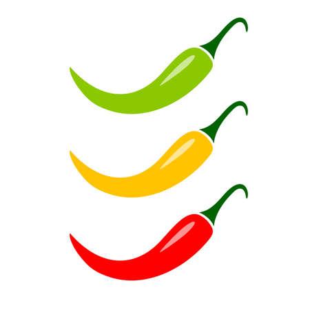 pimenton: Icono de vector de pimiento picante jalapeño mexicano Vectores