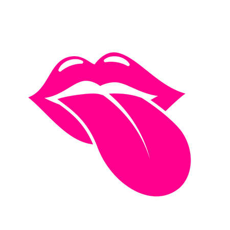Mouth and tongue vector icon