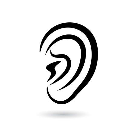listener: Human ear vector icon