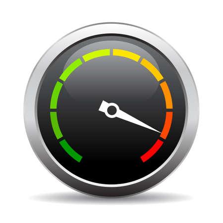 Speedometer vector round icon