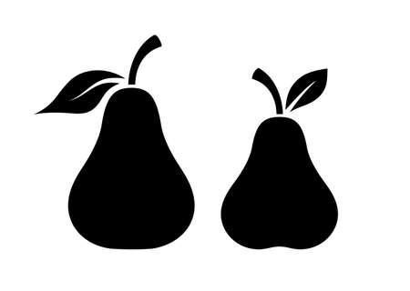 Pear vector silhouette icon