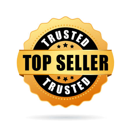 Trusted top seller gold vector icon