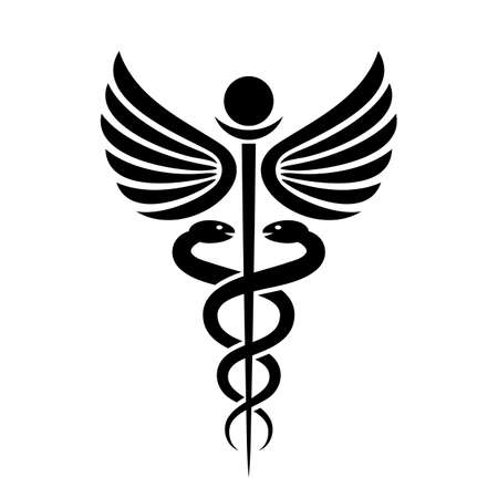 flag: Ancient medical symbol caduceus
