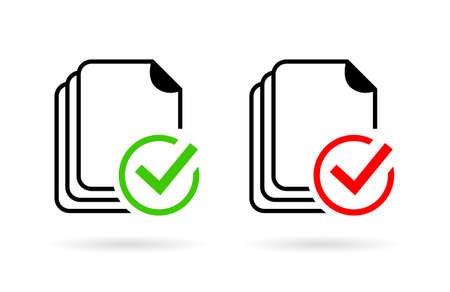 orthography: Document spelling grammar control icon Illustration