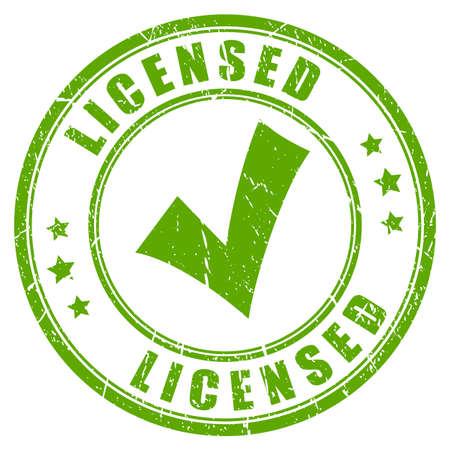 Licensed product business rubber stamp Illustration