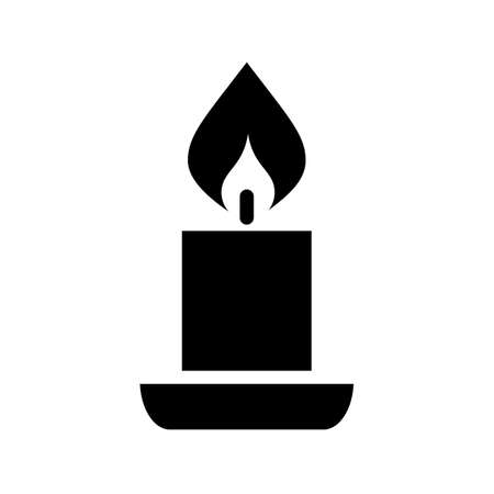 advent candles: Candle vector silhouette icon