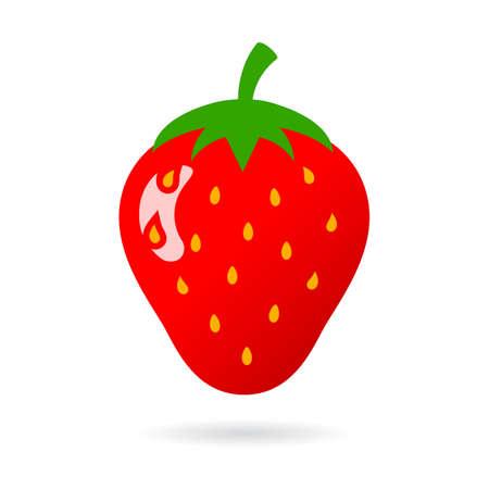 Strawberry ripe sweet vector icon