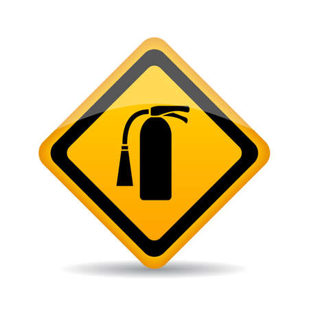 conflagration: Fire extinguisher vector sign