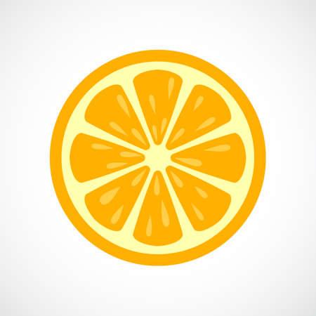 Naranja icono de vector en rodajas Vectores