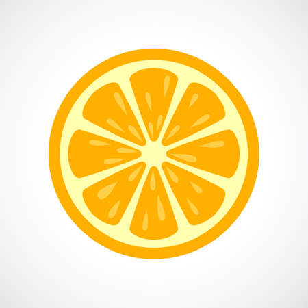 alphabet tree: Orange sliced vector icon