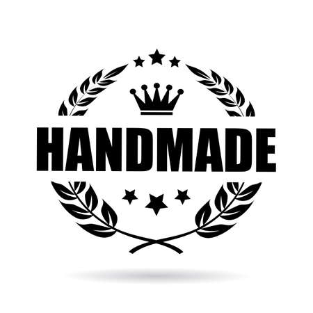 exclusive: Handmade product vector icon