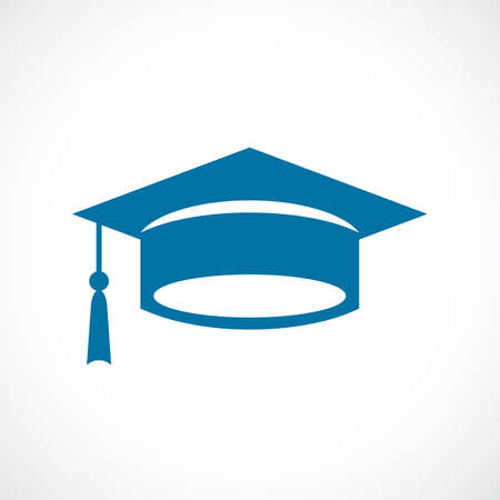Mortarboard cap vector icon