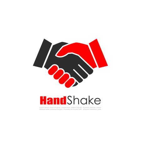 Hand schud business vector logo
