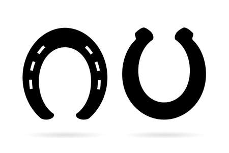 Horseshoe vector icon set
