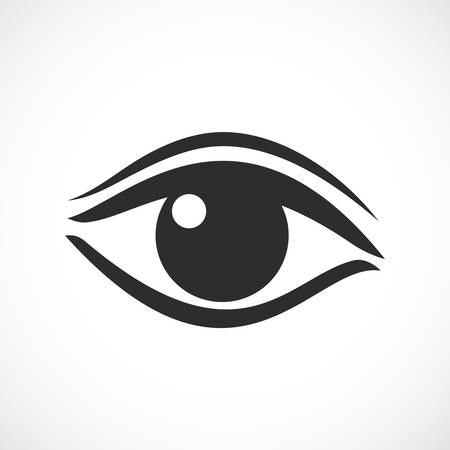 eyes wide open: Womens eye vector icon