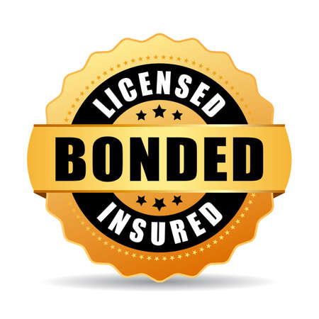 Licensed bonded insured vector icon