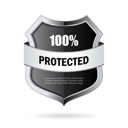 secure: Secure shield vector icon Illustration
