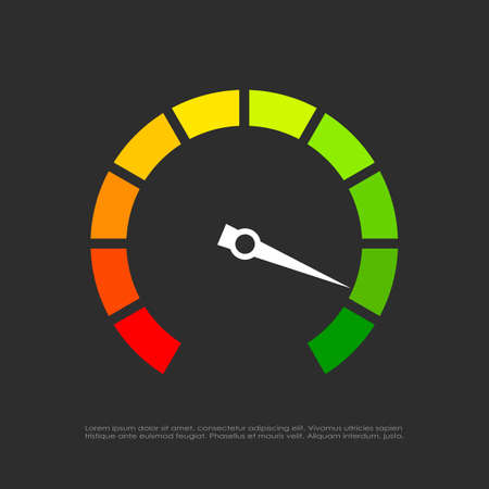 Speed test vector icon Illustration