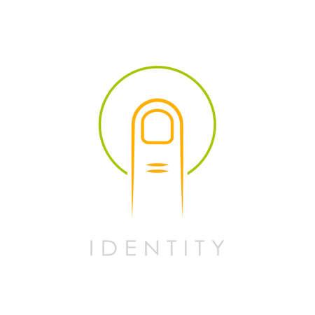 logo vector: Identity abstract vector logo, fingerprint scanning Illustration