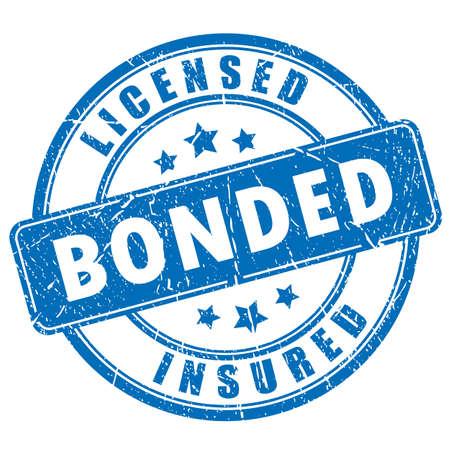 bonded: Licensed bonded insured rubber stamp