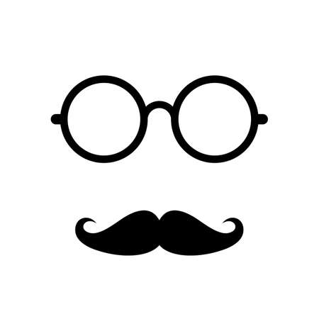 human face: Old retro mens face accessories Illustration