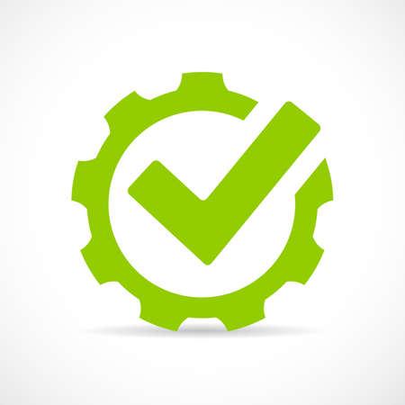 cog gear: Abstract technical vector icon