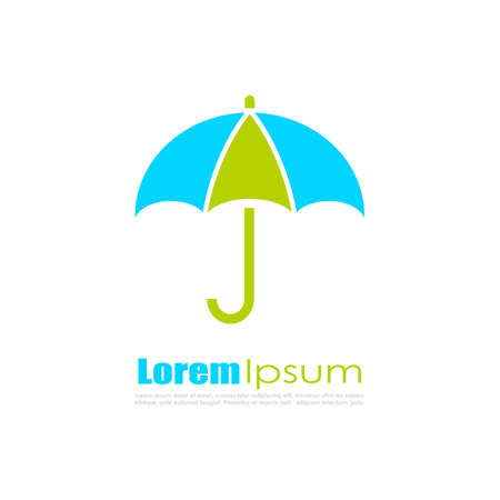 Colorful umbrella logo