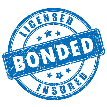 career fair: Licensed bonded insured rubber stamp