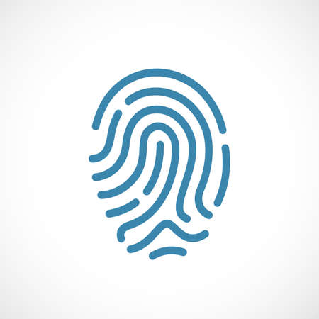 security: Finger print vector icon Illustration