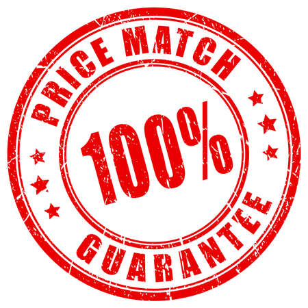Price match guarantee business stamp Banco de Imagens - 72094736