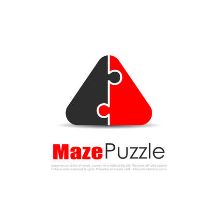Abstract puzzle logo, unity concept Illustration