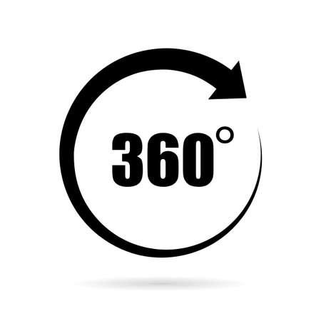 360 degree vector icon Illusztráció