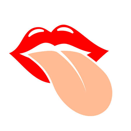 Tongue mouth vector icon