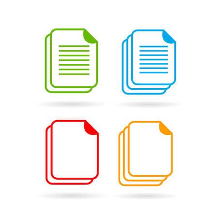 Web document vector icon set