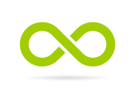 Green infinity vector symbol Illustration