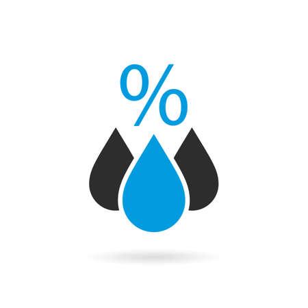 Humidity vector icon