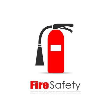 logo vector: Fire extinguisher vector logo Illustration